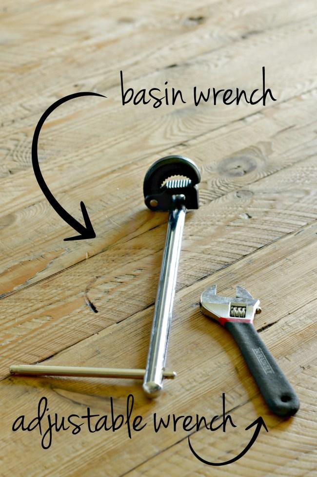 faucet diy - tools