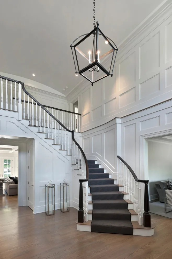 Decorated Two Story Foyers : Design dilemma decorating a two story entry foyer our