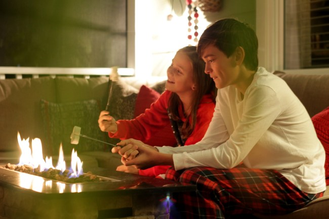 fire table - roasting marshmallows