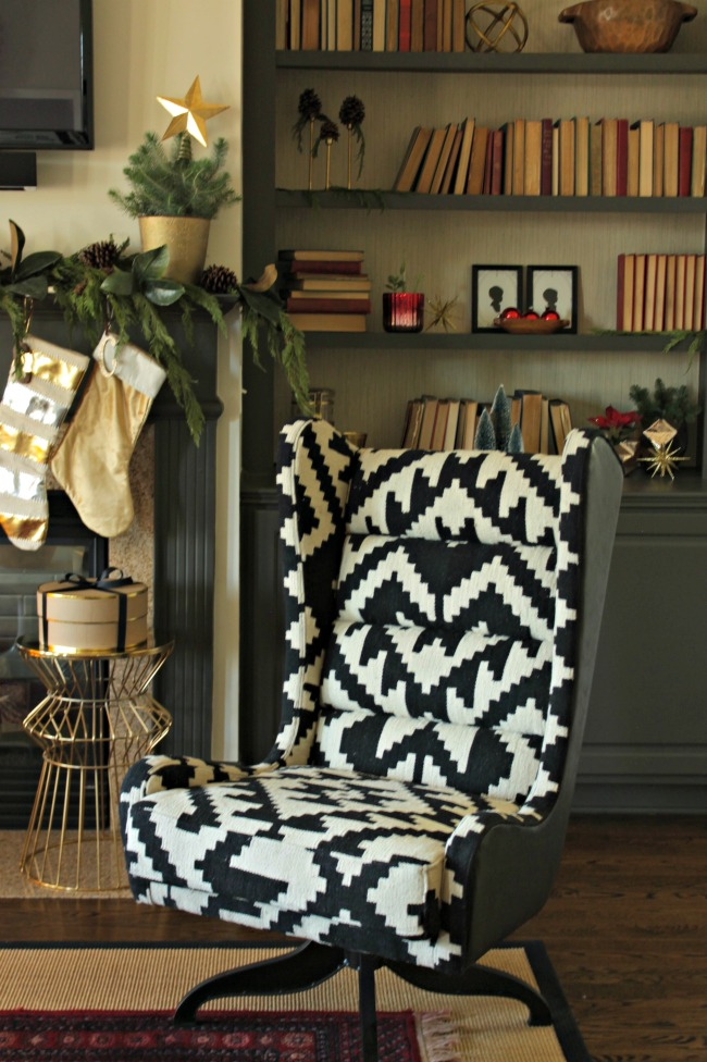christmas chair bookcase