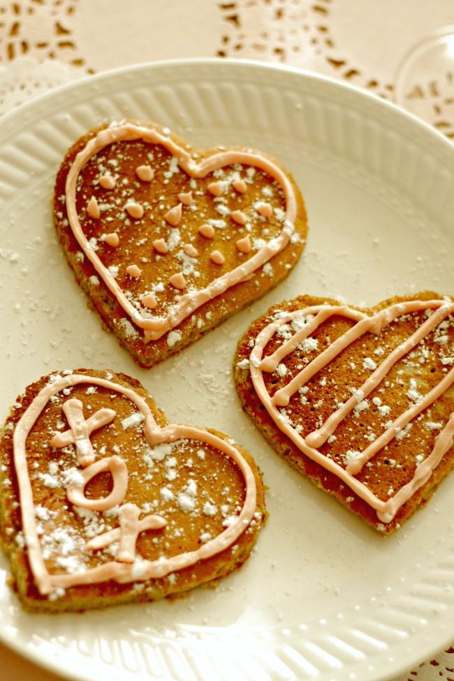 heart pancakes - gluten free