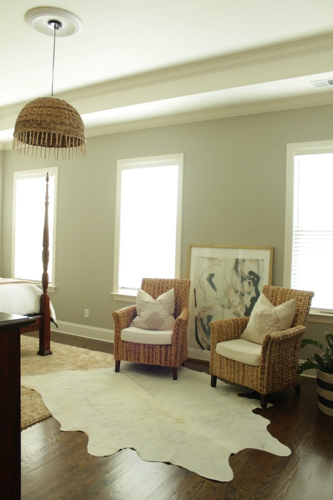 amazing grey walls - master bedroom