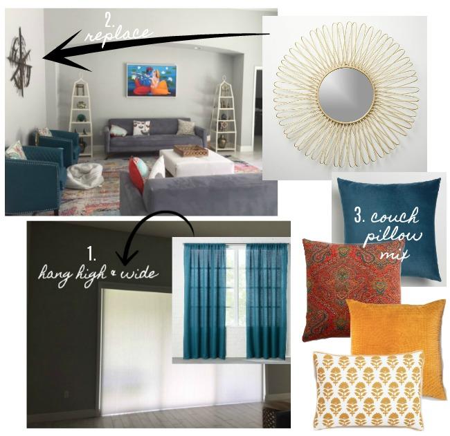 Design Dilemma – Decorating Around Sliding Glass Doors