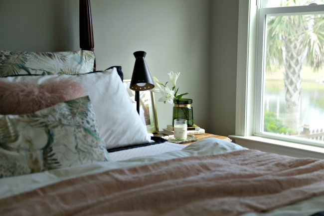 frontgate palm print bedding