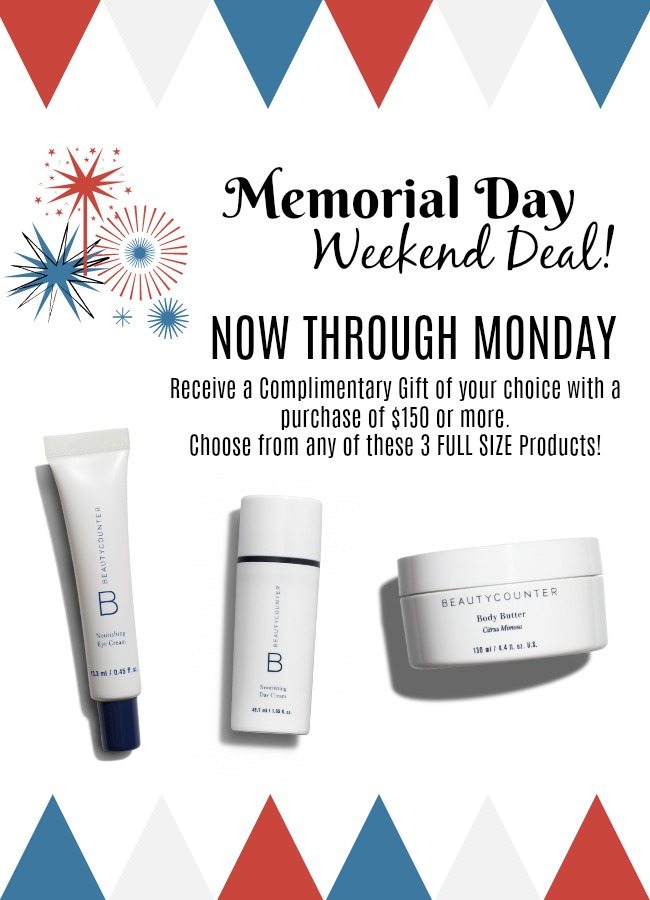 memorial day beautycounter