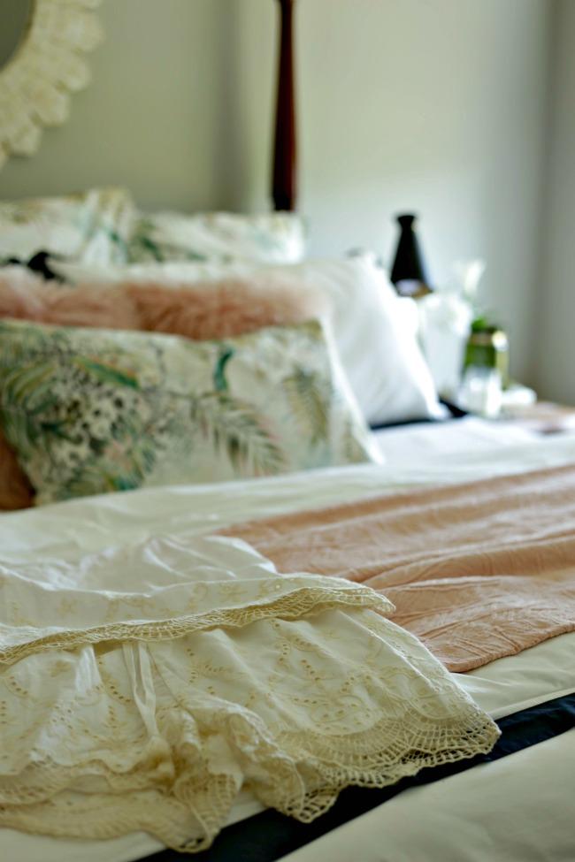 pretty white pajama set