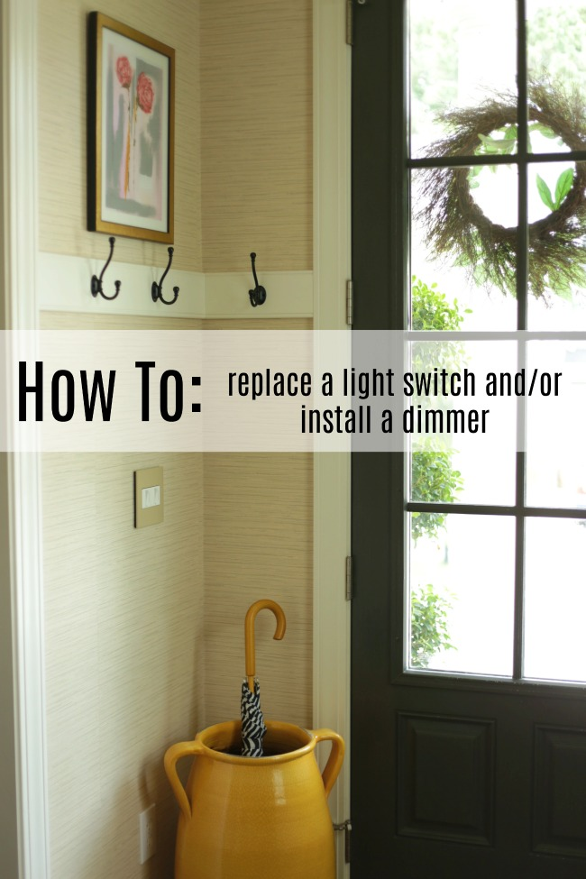 how to replace a light switch and or install a dimmer our fifth house. Black Bedroom Furniture Sets. Home Design Ideas