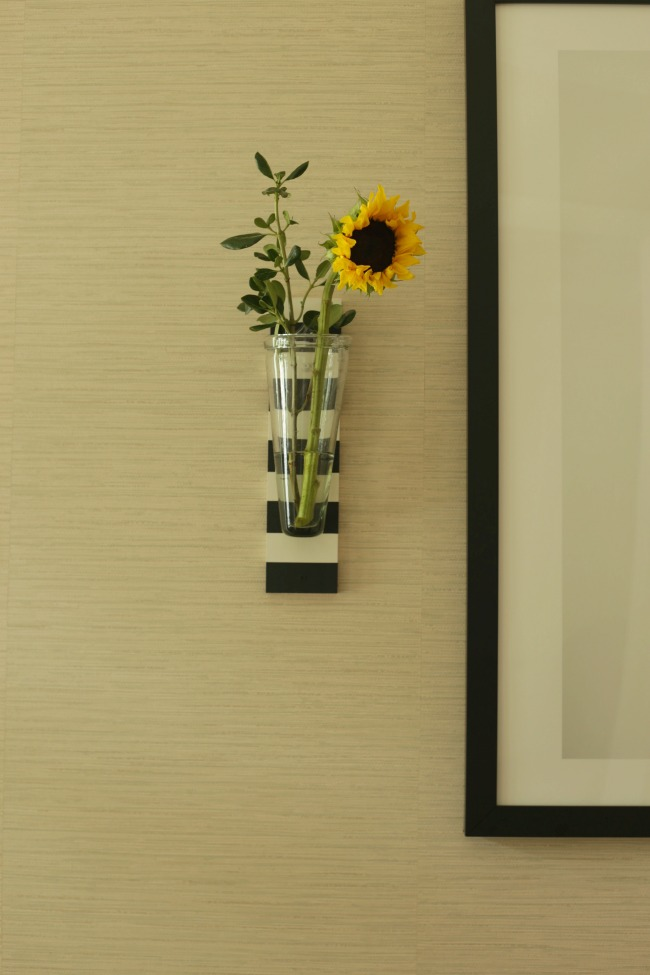 striped wall vase
