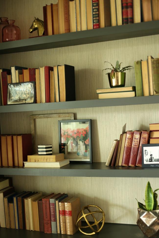 living room shelfie