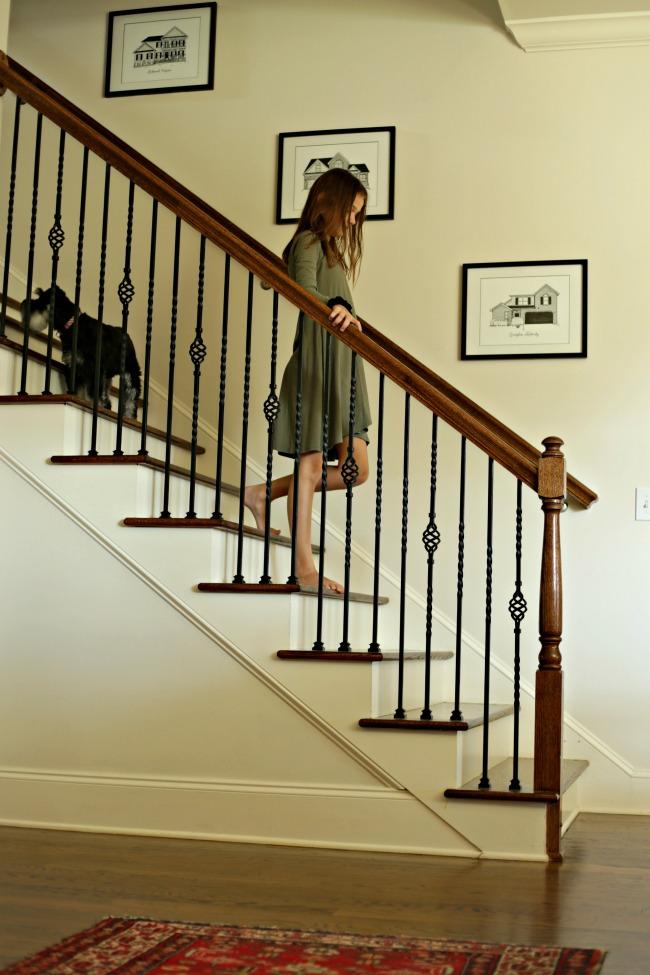 staircase custom house portraits