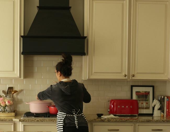 kitchen new black range hood
