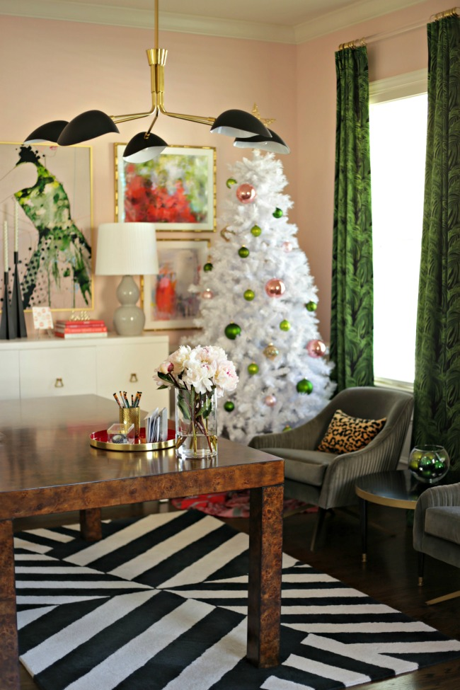 home office white tree