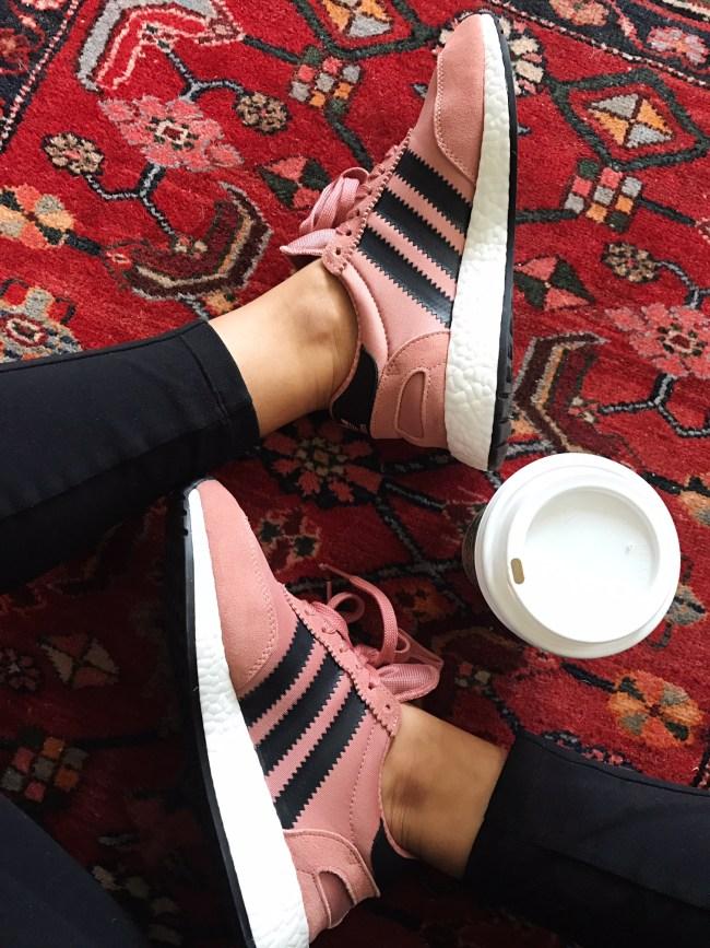 dusty pink retro adidas