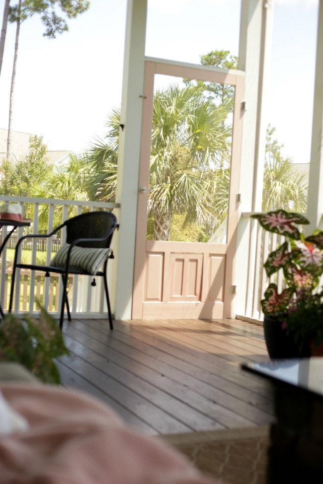 screen porch floor to paint or stain what color our