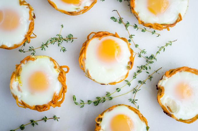Sweet Potato Egg Nests