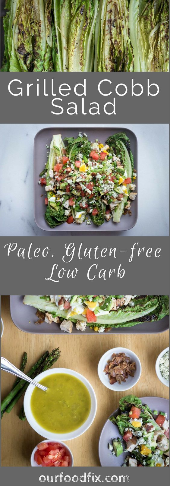 Paleo recipes | Gluten free recipes | Low carb recipes | Party food | Memorial Day | BBQ| Football food | Salad recipes | Party recipes | Grilled dishes | Cobb salad | Make ahead | Simple meal | Under 30 minute meal | Easy dinner | Labor Day