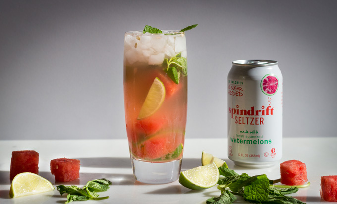 Healthy Watermelon Mojitos