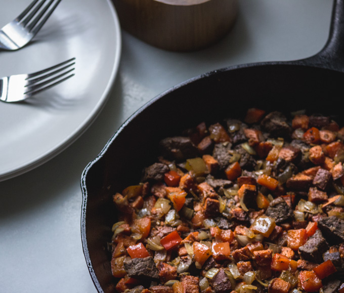 Leftover Meat Hash