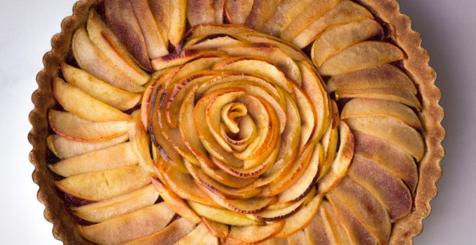 Paleo Apple Tart with Pear Cranberry Compote