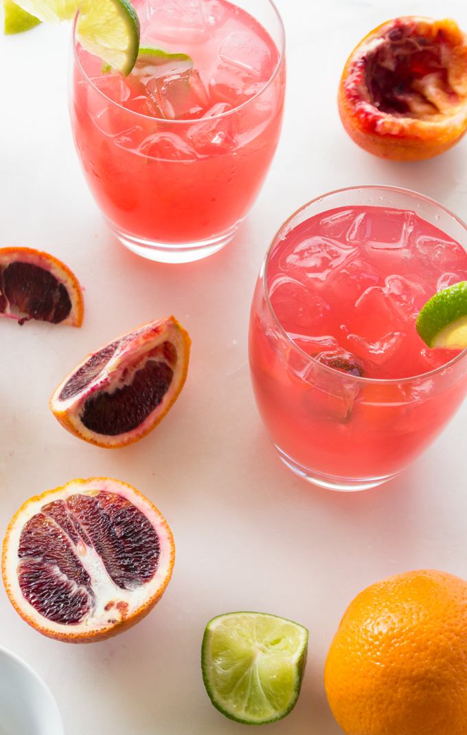Healthy Blood Orange Paloma
