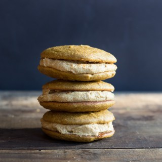 Pumpkin Whoopie Pies with Spiced Maple Cream