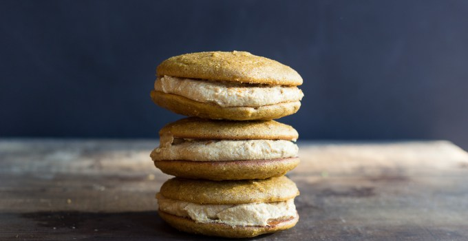 Pumpkin Whoopie Pies with Spiced Maple Cream {Paleo + Vegan option}