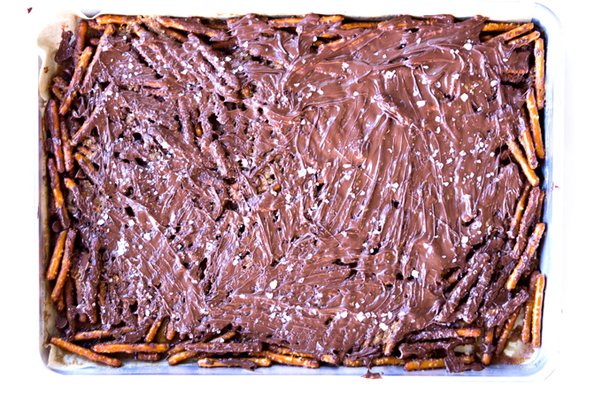 Easy Maple Toffee Pretzel Bark
