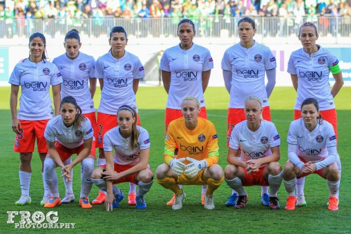 Paris Saint-Germain (PSG) starting lineup.