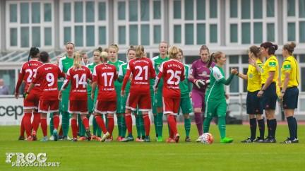 SV Werder Bremen and FFC Frankfurt lineups.