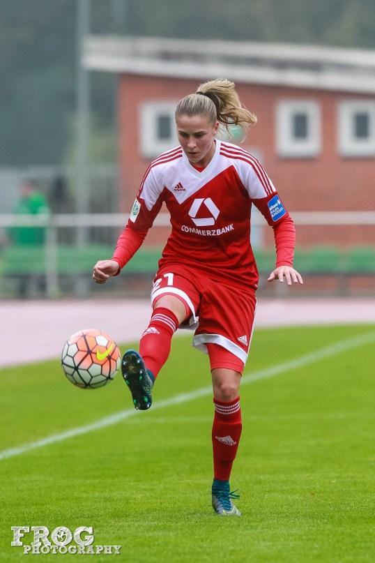 FFC's Ana-Maria Crnogorčević against SV Werder Bremen.