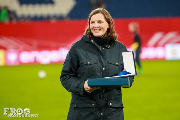 Pia Wunderlich for her 102 caps for Germany.