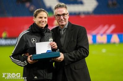 Annike Krahn is honored.