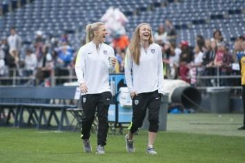 Julie Johnston and Becky Sauerbrunn.