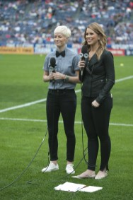 Megan Rapinoe doing sideline duty is cool but we can't wait for her to be back on the field.