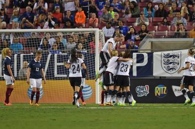 Germany celebrates Maier's game-winning goal.