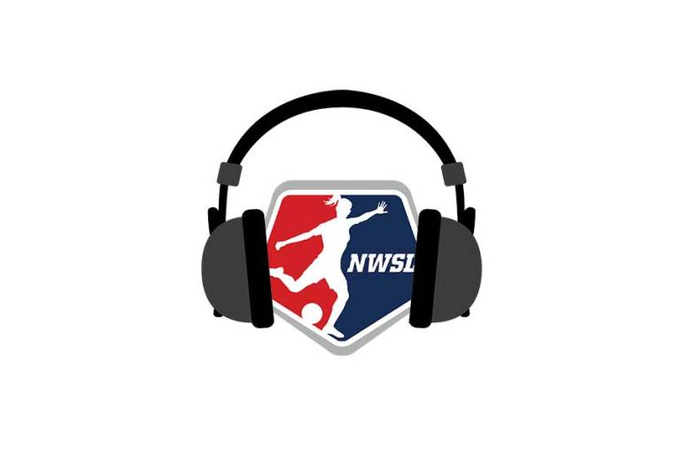 nwsl logo with headphones wrapped around it