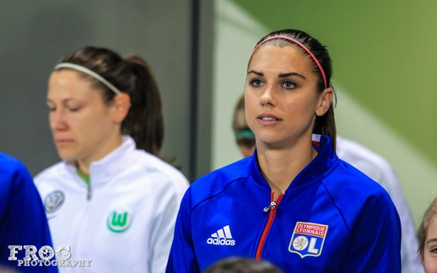 Alex Morgan (OL) before the match.