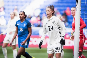 Germany's Felicitas Rauch during the 2017 SheBelieves Cup.