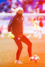 Jane Campbell during warming up during the 2017 SheBelieves Cup.