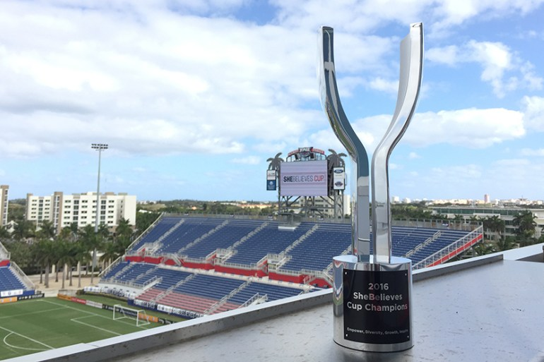 SheBelieves Cup trophy from US Soccer