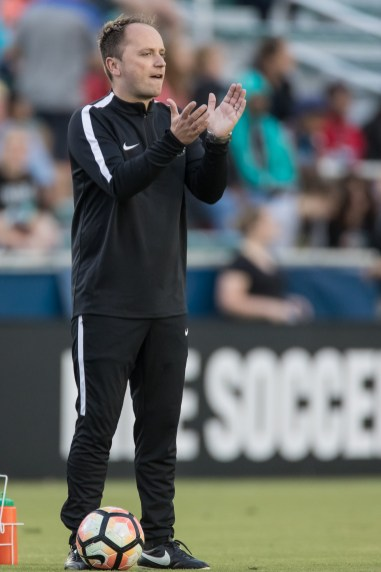 Mark Parsons, head coach of the Portland Thorns FC (Shane Lardinois).