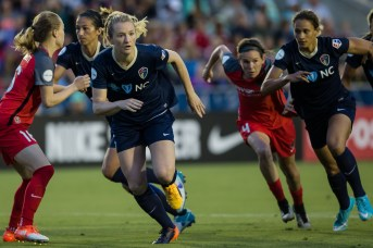 Action from the North Carolina Courage's first home opener by Shane Lardinois.