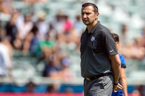 FC Kansas City head coach Vlatko Andonovski. (Shane Lardinois)