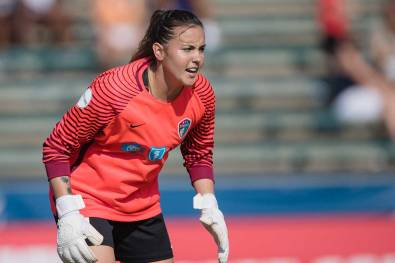Goalkeeper Katelyn Rowland of the North Carolina Courage. (Shane Lardinois)