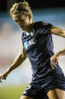 Stephanie Ochs makes her debut with the North Carolina Courage. (Shane Lardinois)