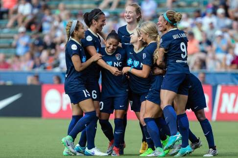 Team celebration after a goal. (Shane Lardinois)