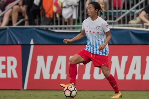 Yuki Nagasato of the Chicago Red Stars. (Shane Lardinois)