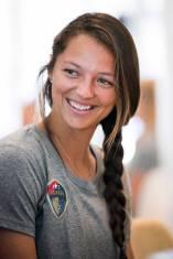 Ashley Hatch during 2017 NWSL Media Day. (Monica Simoes)