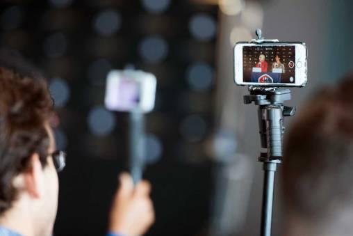 Behind the scenes of 2017 NWSL Media Day. (Monica Simoes)