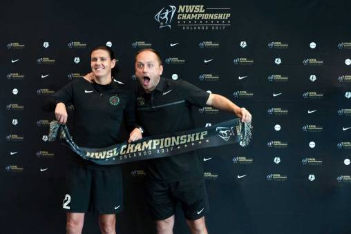 Christine Sinclair and head coach (!) Mark Parsons. (Monica Simoes)